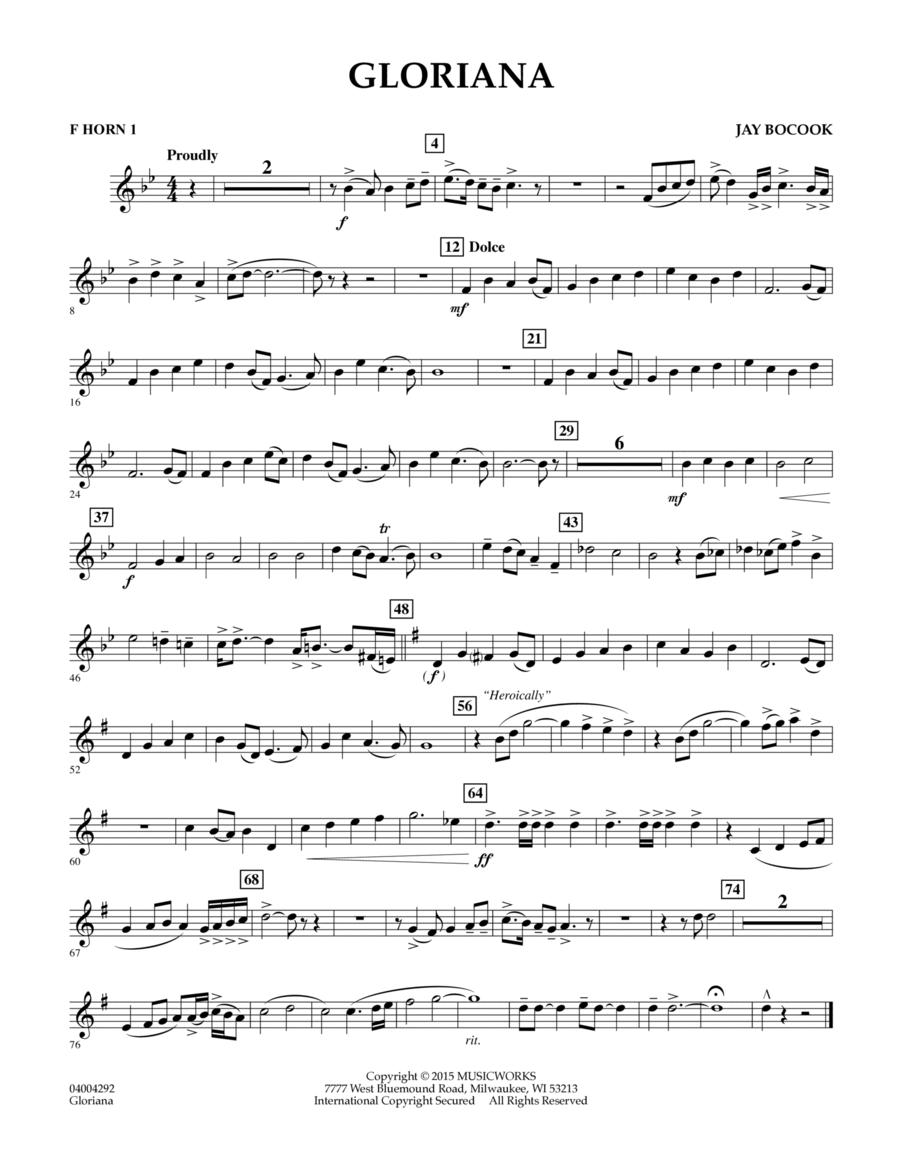 Gloriana - F Horn 1