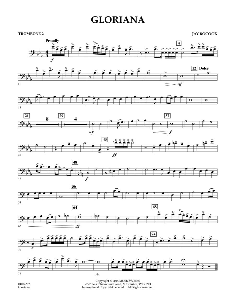 Gloriana - Trombone 2