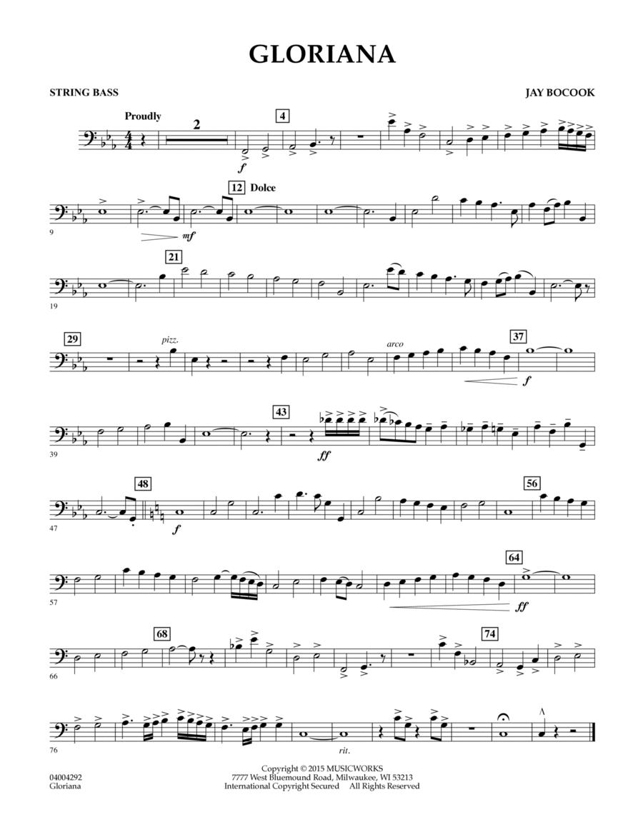 Gloriana - String Bass