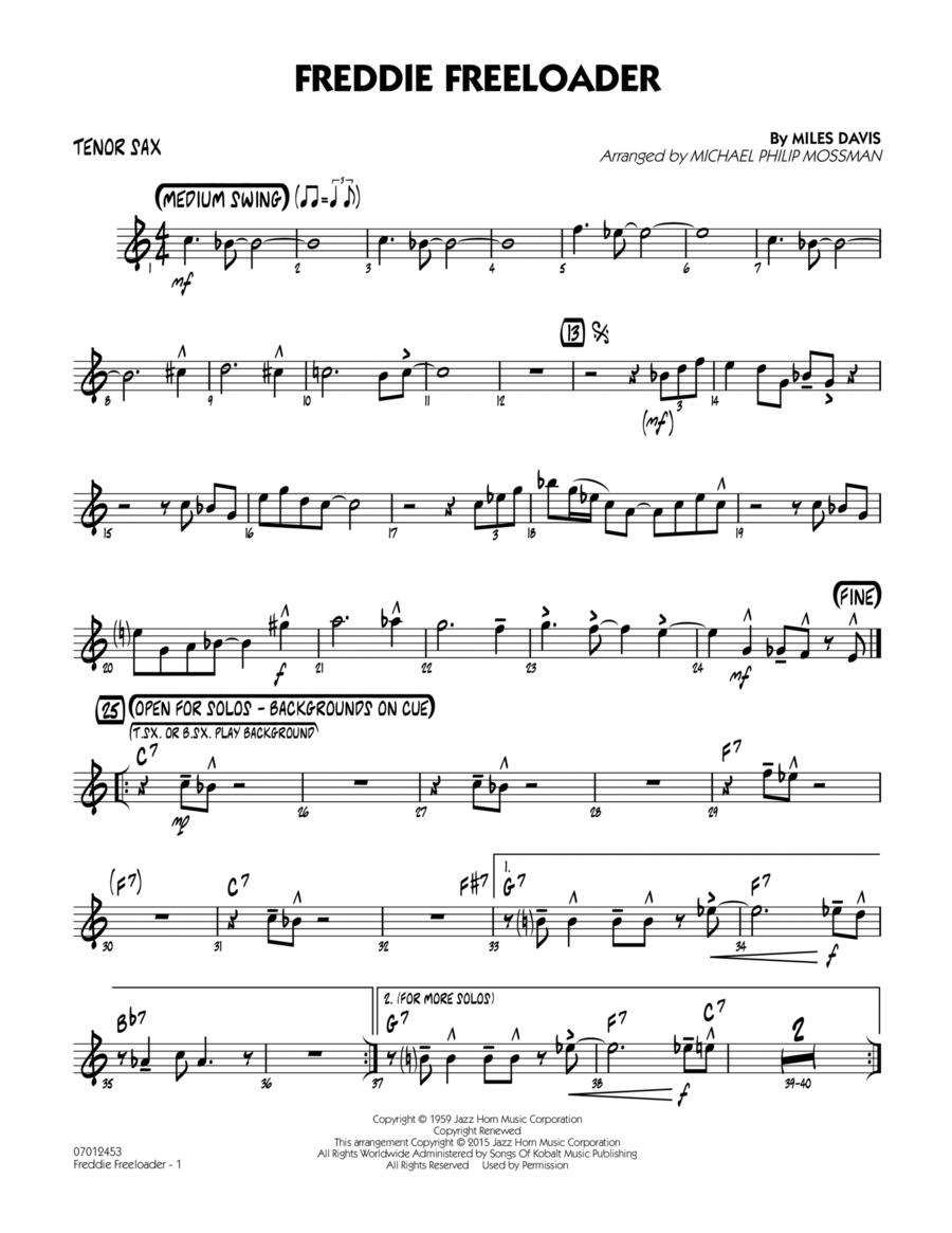 Freddie Freeloader - Tenor Sax