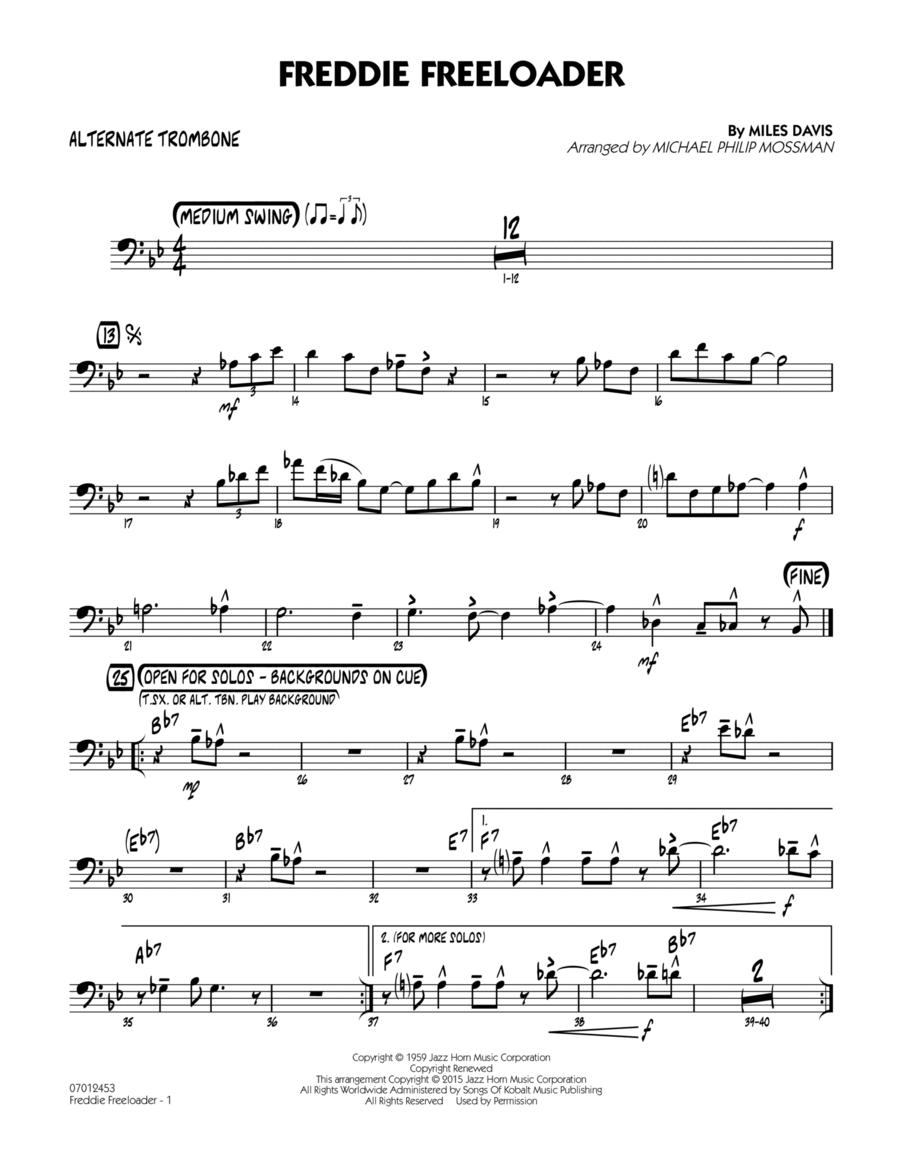 Freddie Freeloader - Alternate Trombone