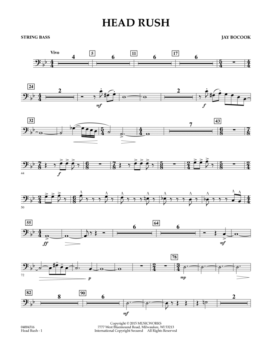 Head Rush - String Bass
