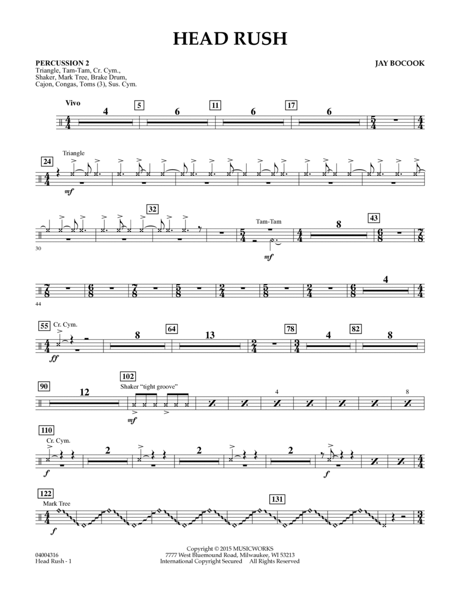 Head Rush - Percussion 2