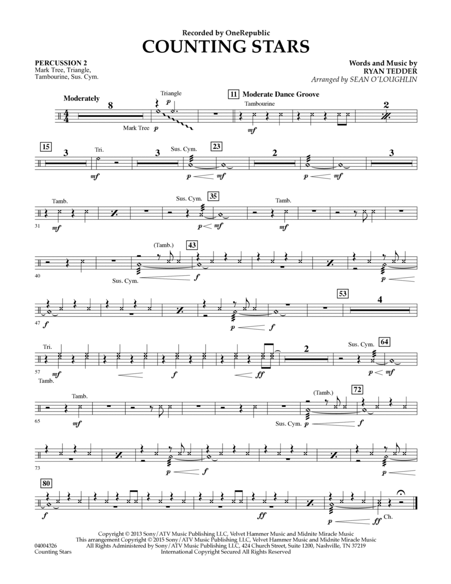 Counting Stars - Percussion 2