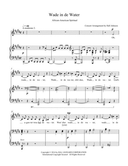 Wade in de Water (C-sharp minor)