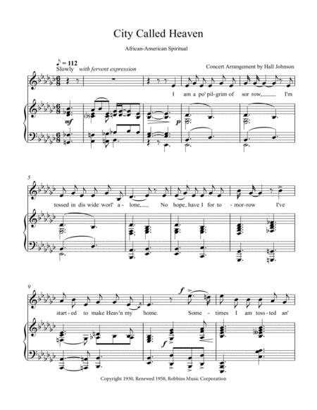 City Called Heaven (E-flat minor)