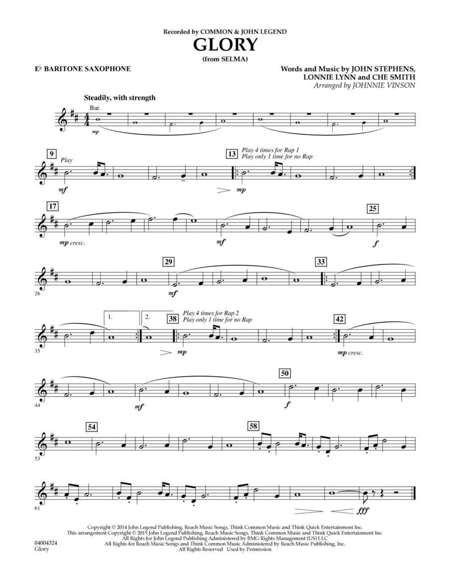 Glory (from Selma) - Eb Baritone Saxophone