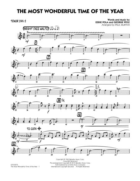 The Most Wonderful Time of the Year - Tenor Sax 2