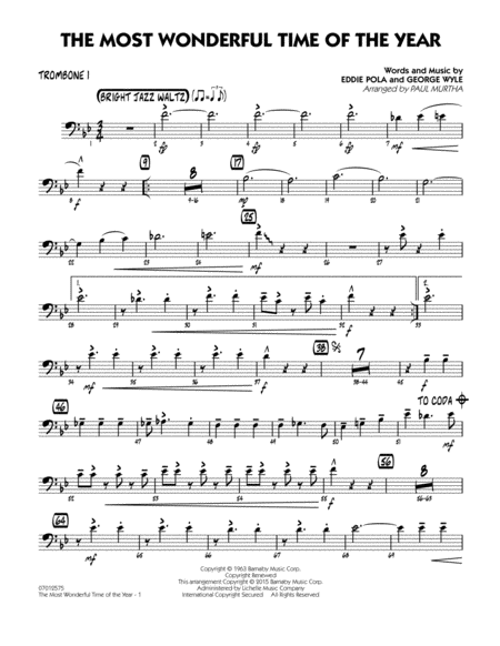 The Most Wonderful Time of the Year - Trombone 1