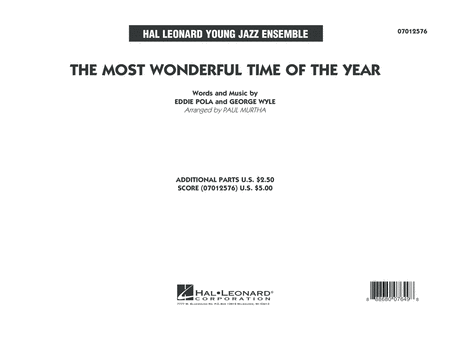 The Most Wonderful Time of the Year - Conductor Score (Full Score)