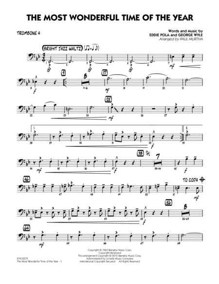 The Most Wonderful Time of the Year - Trombone 4