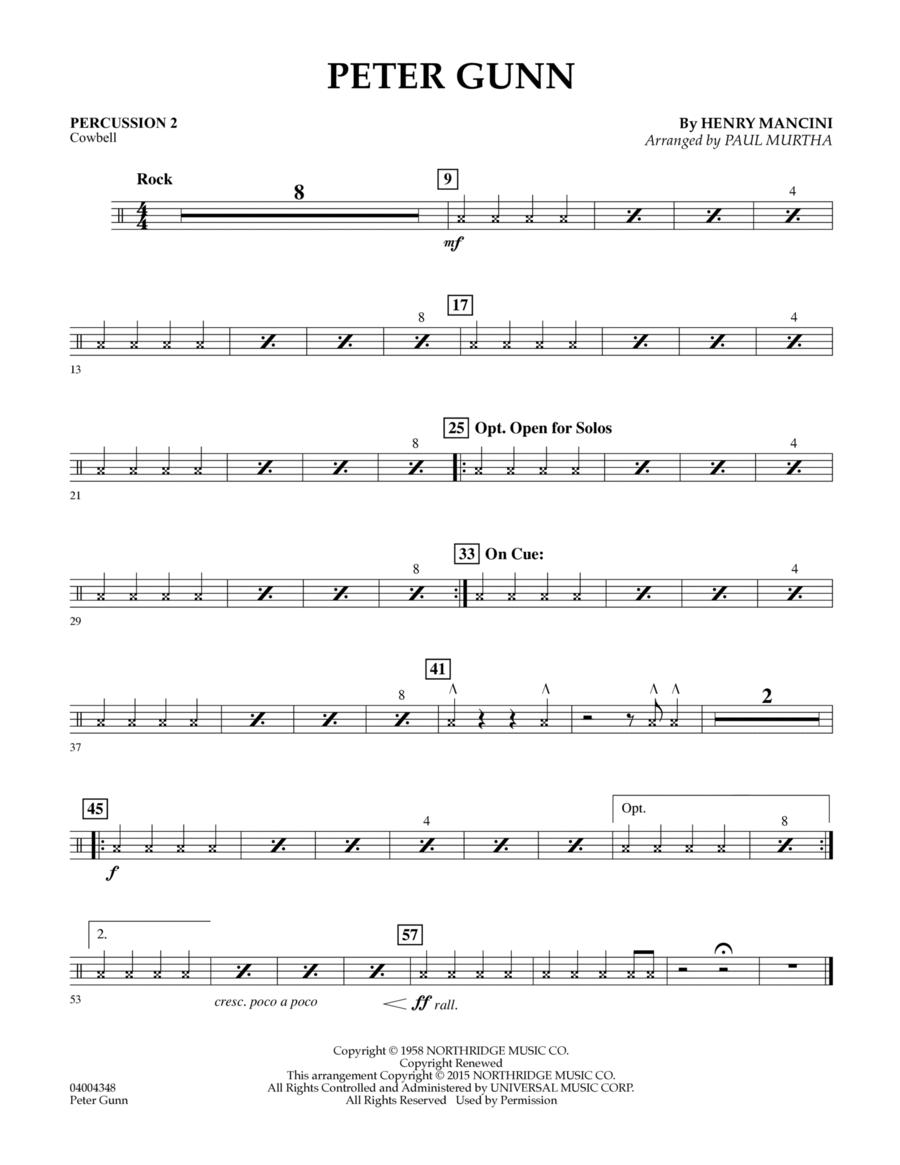 Peter Gunn - Percussion 2