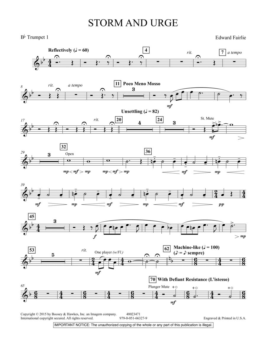 Storm and Urge - Bb Trumpet 1