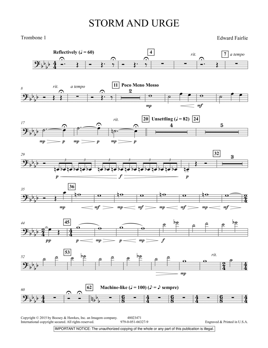Storm and Urge - Trombone 1