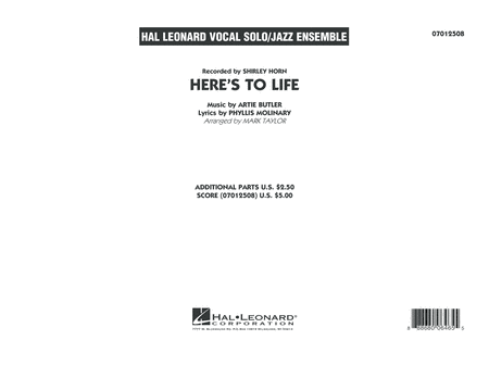 Here's To Life (Key: C minor) - Conductor Score (Full Score)