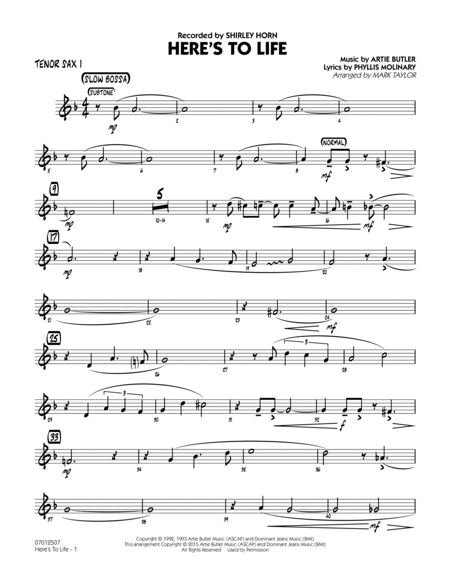 Here's To Life (Key: C minor) - Tenor Sax 1