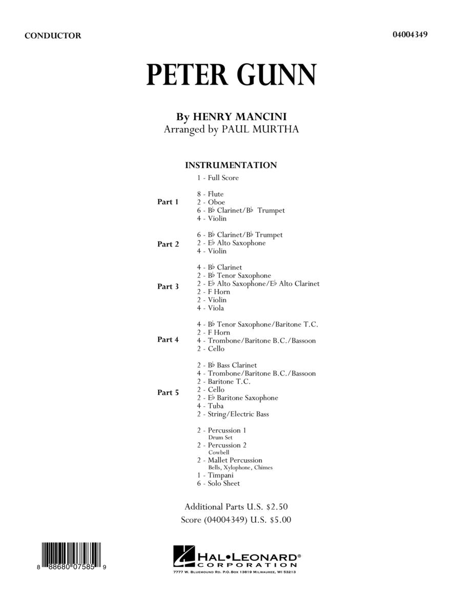 Peter Gunn - Conductor Score (Full Score)