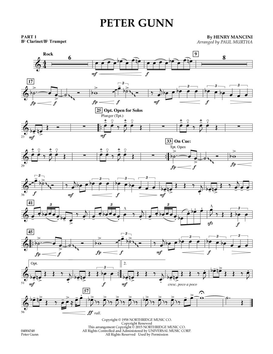 Peter Gunn - Pt.1 - Bb Clarinet/Bb Trumpet