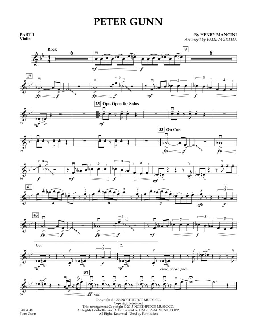 Peter Gunn - Pt.1 - Violin