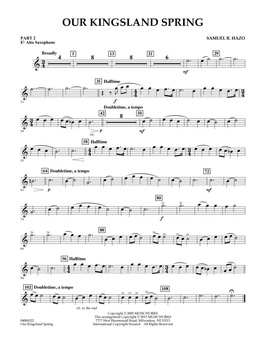 Our Kingsland Spring - Pt.2 - Eb Alto Saxophone