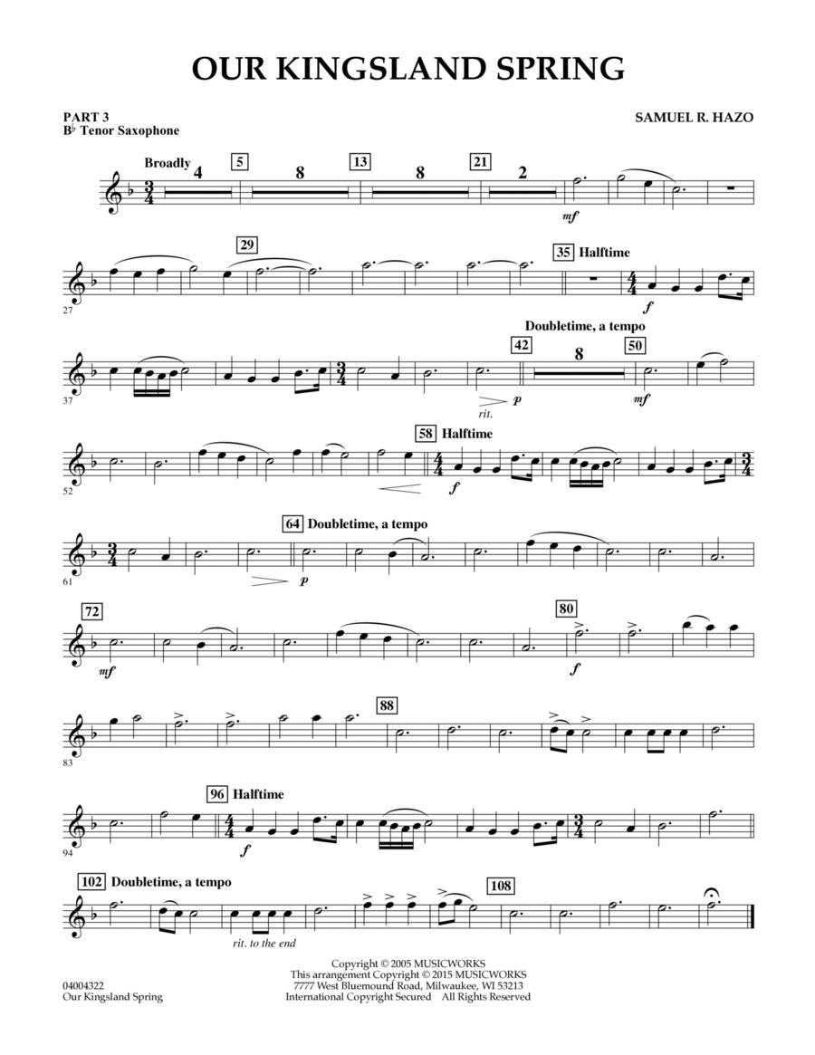 Our Kingsland Spring - Pt.3 - Bb Tenor Saxophone