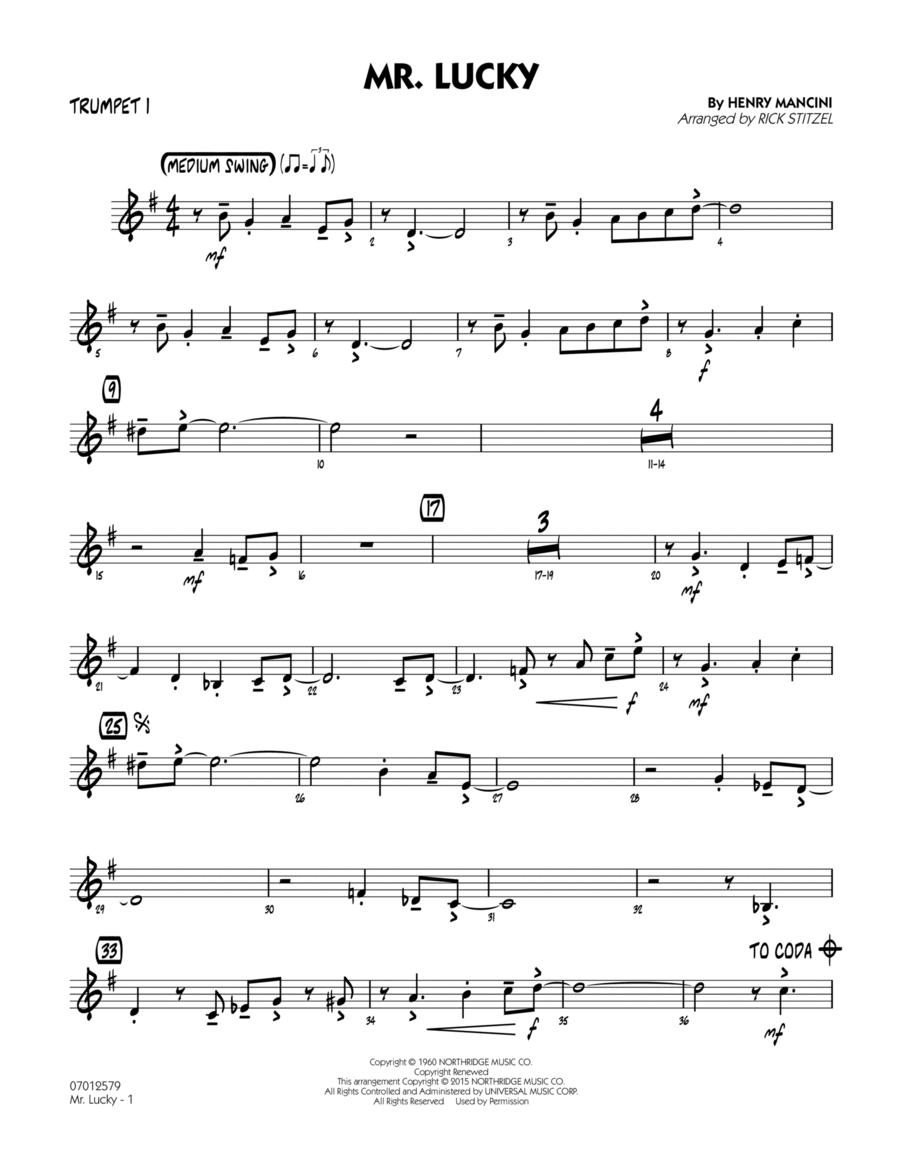 Mr. Lucky - Trumpet 1