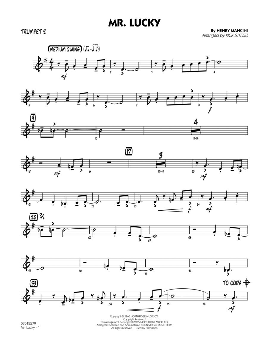 Mr. Lucky - Trumpet 2