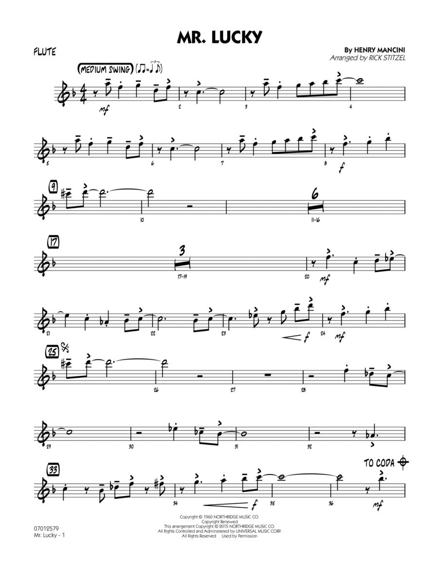 Mr. Lucky - Flute