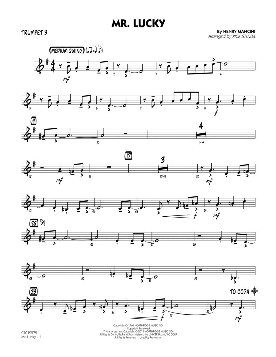 Mr. Lucky - Trumpet 3