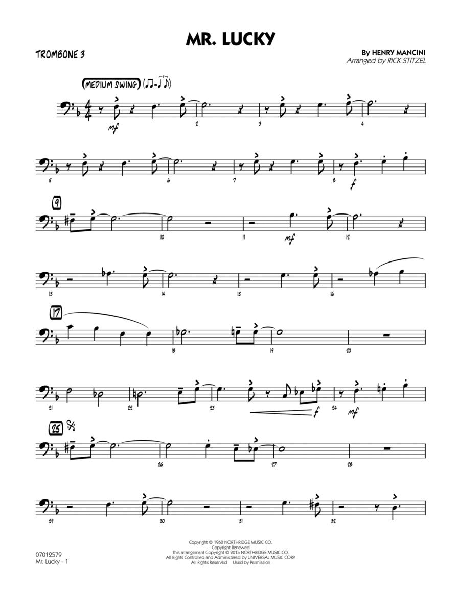 Mr. Lucky - Trombone 3