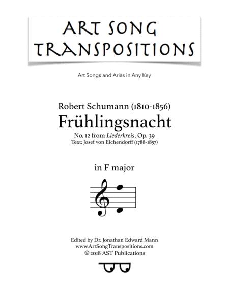 Frühlingsnacht, Op. 39 no. 12 (F major)