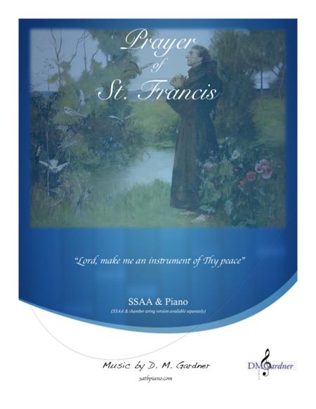 Prayer of Saint Francis (SSAA, Piano and Bb Trumpet)