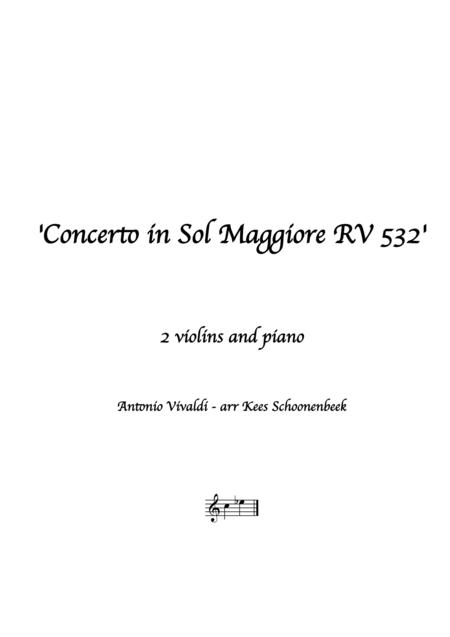 Concerto in Sol Maggiore RV 532
