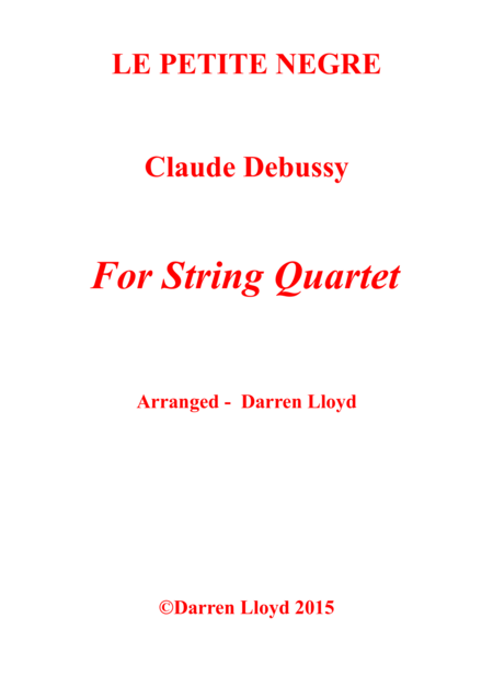 Le Petite Negre for String Quartet