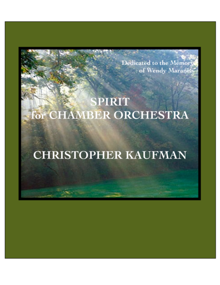 SPIRIT - Chamber Orchestra (Score and Parts)