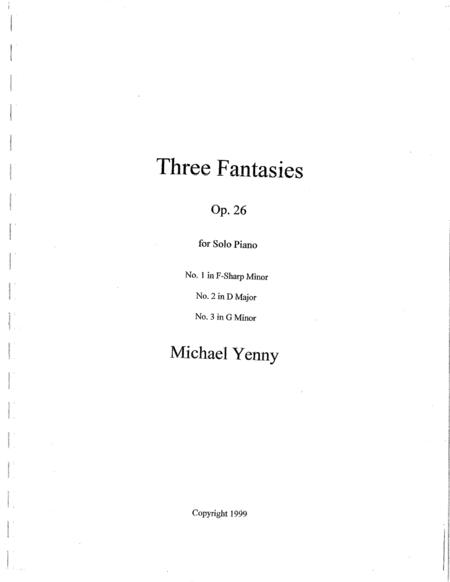 Three Fantasies, op. 26