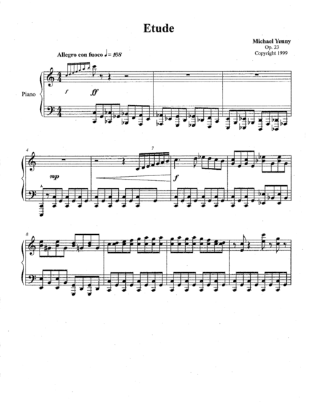 Etude in C major, op. 23