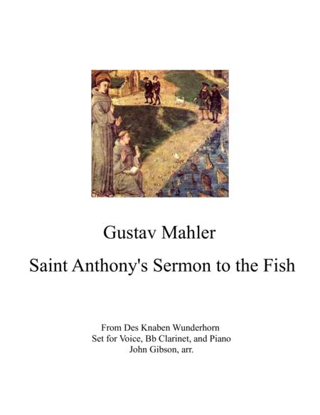 Mahler's Sermon to the Fish -voice, clarinet, piano