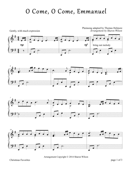 Download O Come, O Come, Emmanuel (Piano Solo) Sheet Music ...
