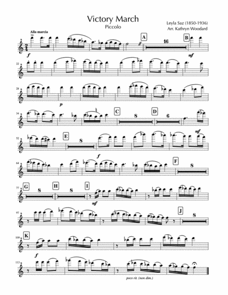 Victory March (1908) for Concert Band (parts)