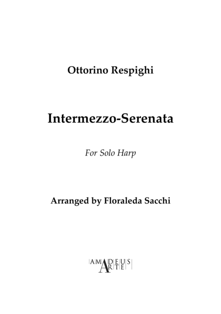 Intermezzo Serenata, For Harp