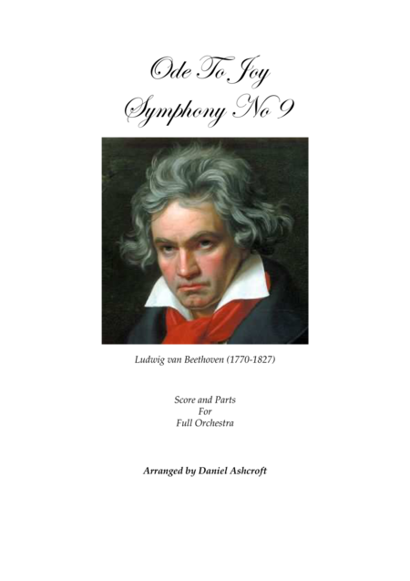 Beethoven's Ode To Joy - Score and Parts