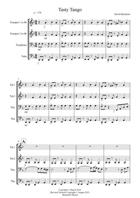 Tasty Tango for Brass Quartet