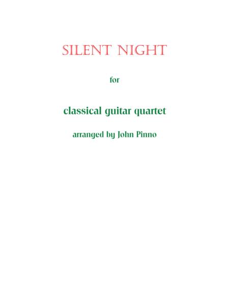 Silent Night for Classical Guitar Trio or Quartet