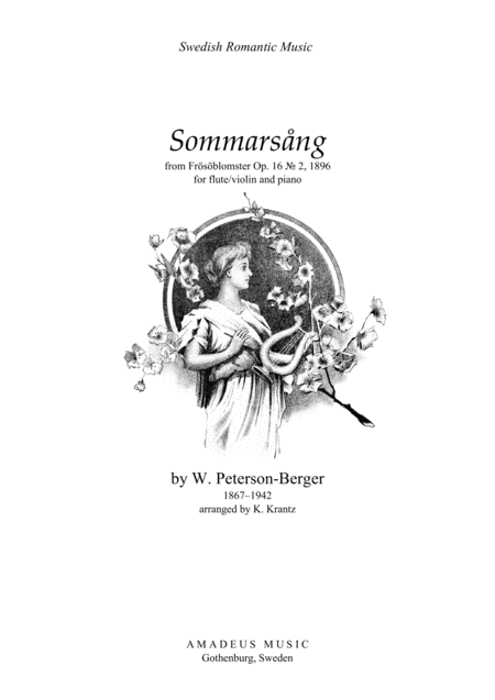 Sommarsång (Summer Song) for flute and piano