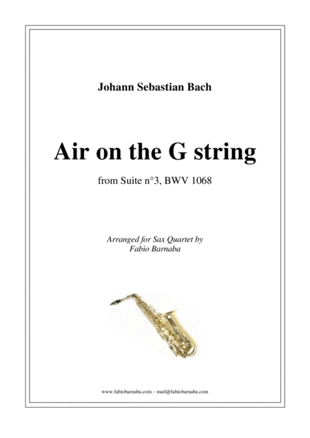 Air on the G string - for Sax Quartet