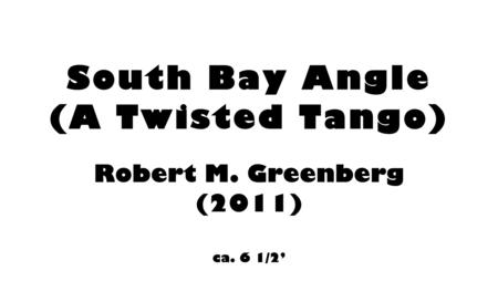 South Bay Angle for violin and piano