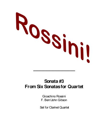 Rossini Quartet set for Clarinets
