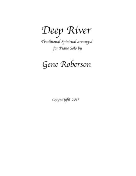 Deep River  Piano Solo