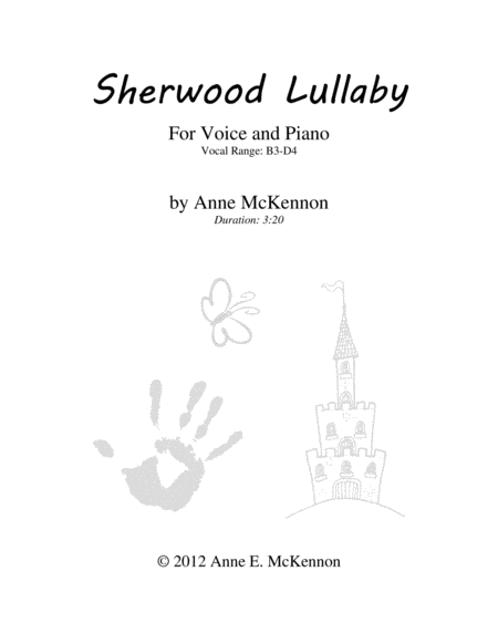 Sherwood Lullaby for Voice and Piano